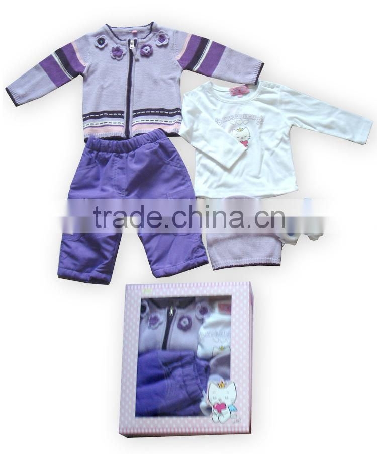 2016 new style baby gift set sweater Angel Cat baby clothes(Angel Cat authorized production)