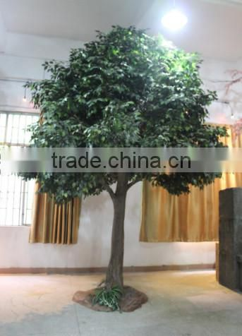 factory price hot sale artificial banyan tree with real wood trunk