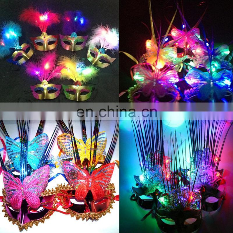 2017 new designs halloween Luminous and Masquerade mask for party