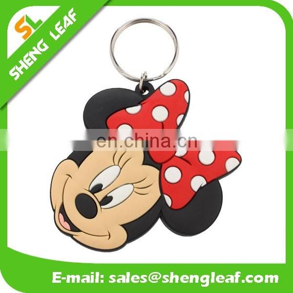 wholesale custom carton shape soft pvc rubber keychain