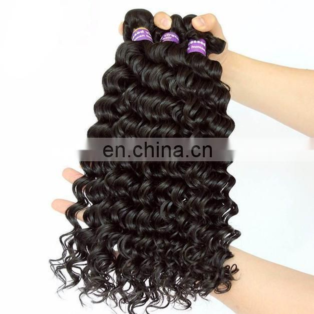Good Feedback Deep Curl Virgin human hair bundles peruvian hair overnight shipping top quality hair weave