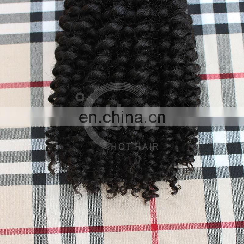alibaba china virgin mongolian afro kinky hair hair extension kinky twist
