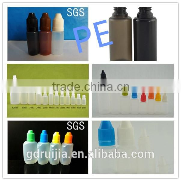 10ml 15ml 30ml plastic dropper bottle with childproof cap. new pet dropper bottles, amber PET bottle