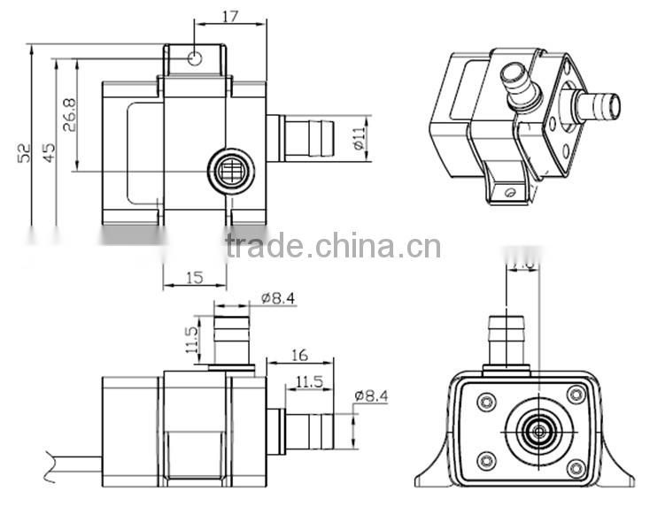Electric Mini Submersible Pump Brushless 3v 5v 7v 9v 12v 24v Dc