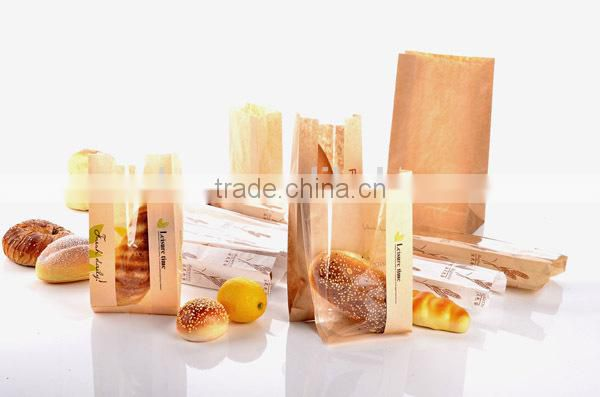 Custom printed food paper bags for food bakery