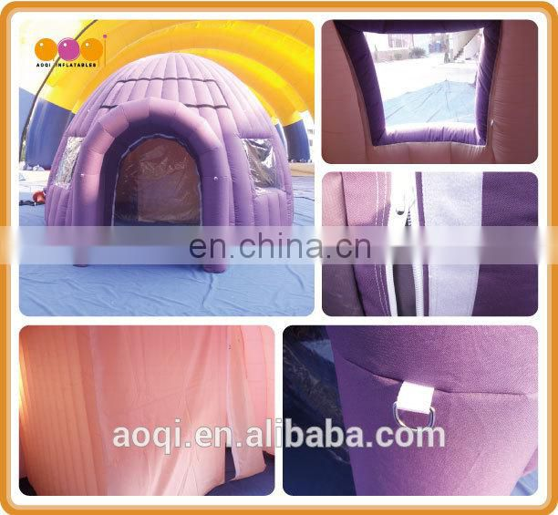 Commercial use small inflatable dome roof tent camping folding inflatable tent for outdoor