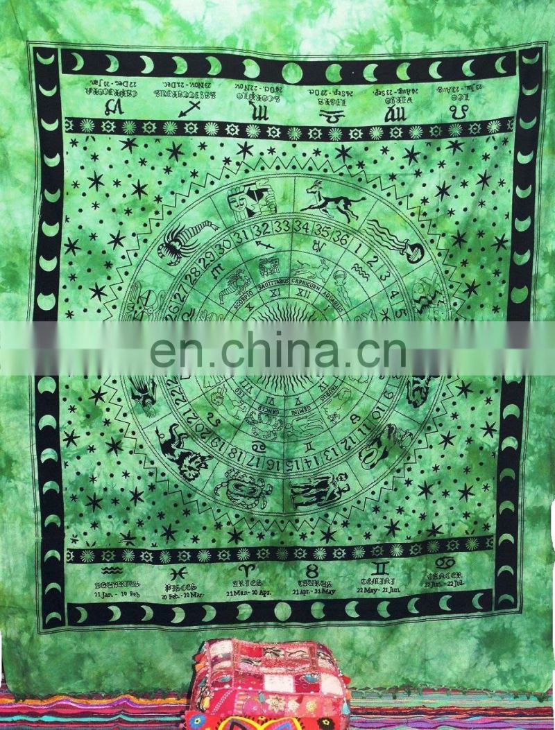 handmade screen printing beautiful mandala tapestry wholesale
