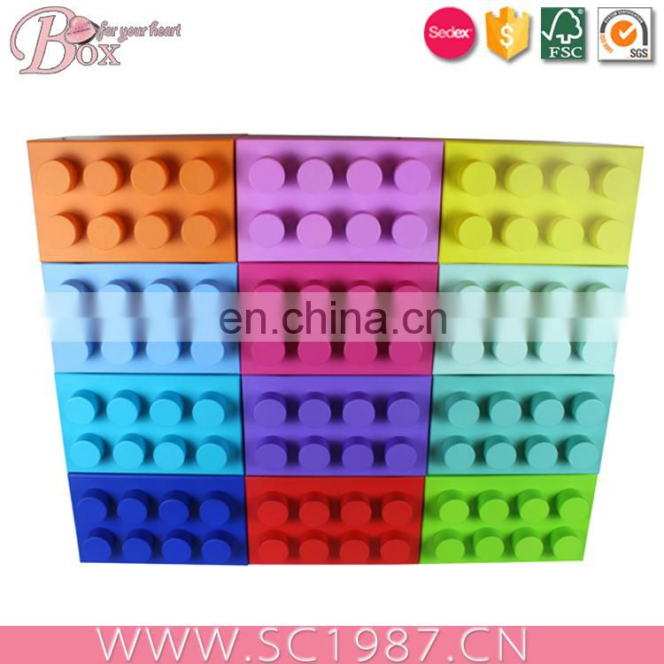 China manufacturer children cardboard block puzzle toy box