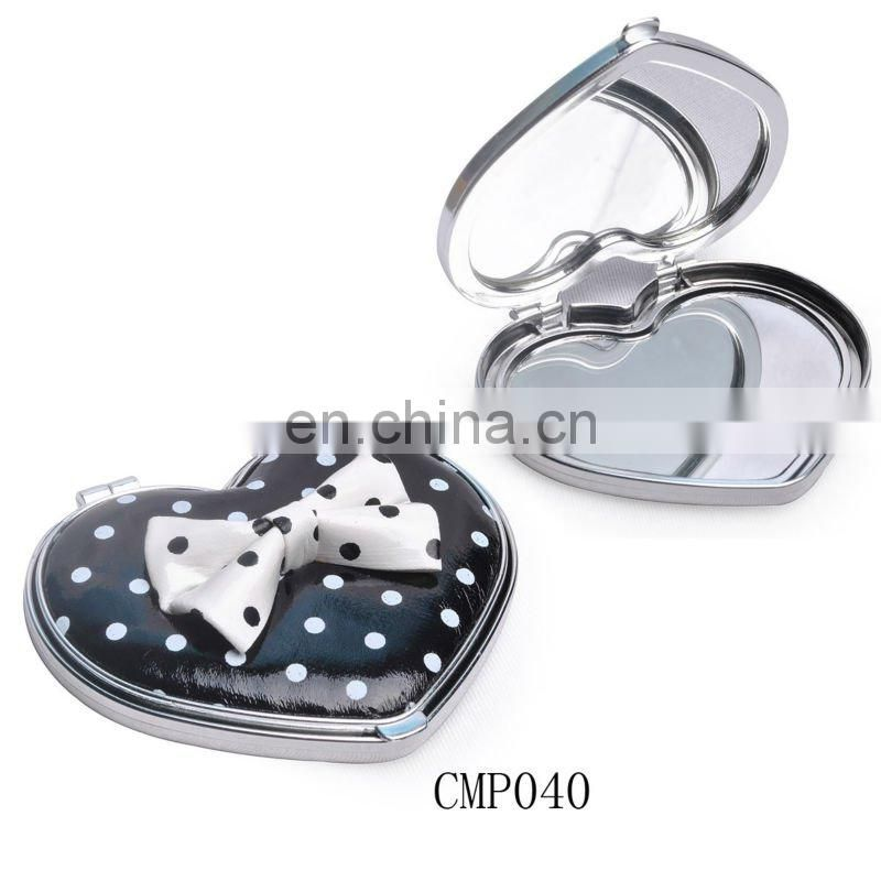 plastic lovely cosmetic mirror with bowknot