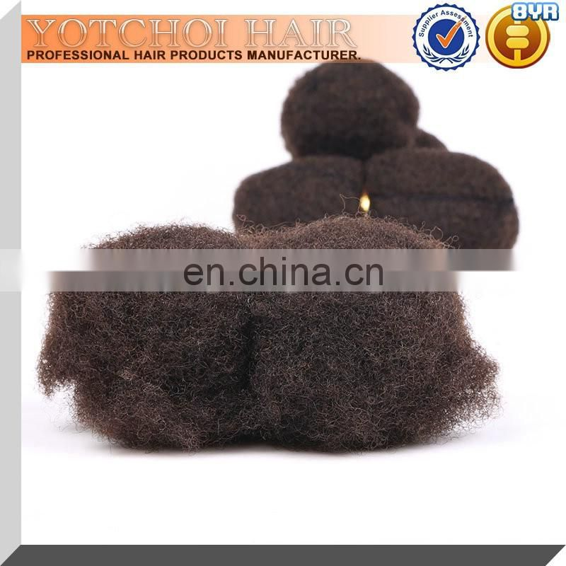 Mongolian Human Hair Natural Color Afro Kinky Hair Weave