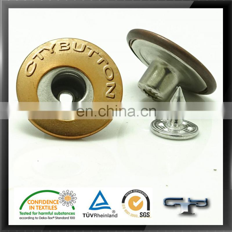 19MM lead free custom metal button for jeans