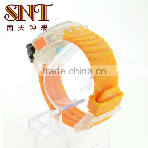 SNT-SI024 plastic silicone watch sports silicone watch bracelet