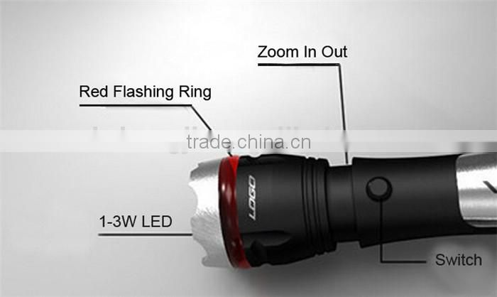 Onlystar GS-4009A hunting camping pocket LED torch zoom brightest multi tool knife flashlight