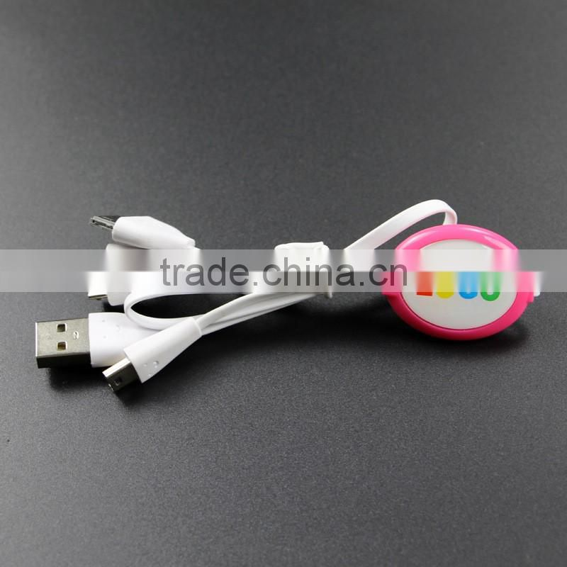 Logo 4 in 1 Charging & Sync Cable for iPhone 6, 6 plus, 5/5S/5C, 4/4S, iPad 4, Mini, Air, Samsung for Brand Promotion