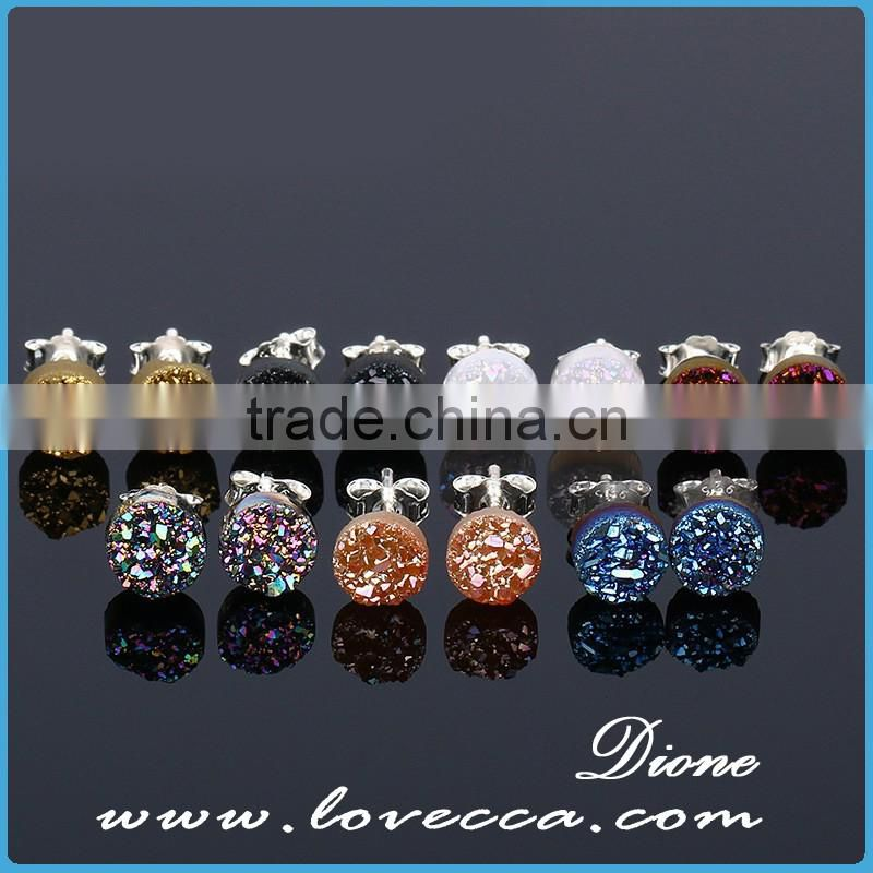 Latest fashion Accessories stud earrings druzy jewelry earrings