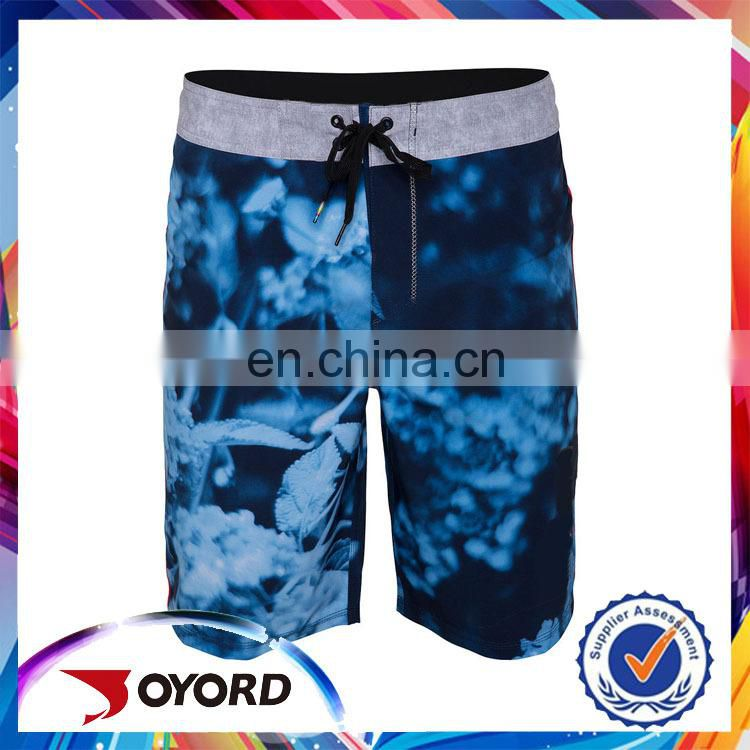 Low price men leopard-print cheap board shorts