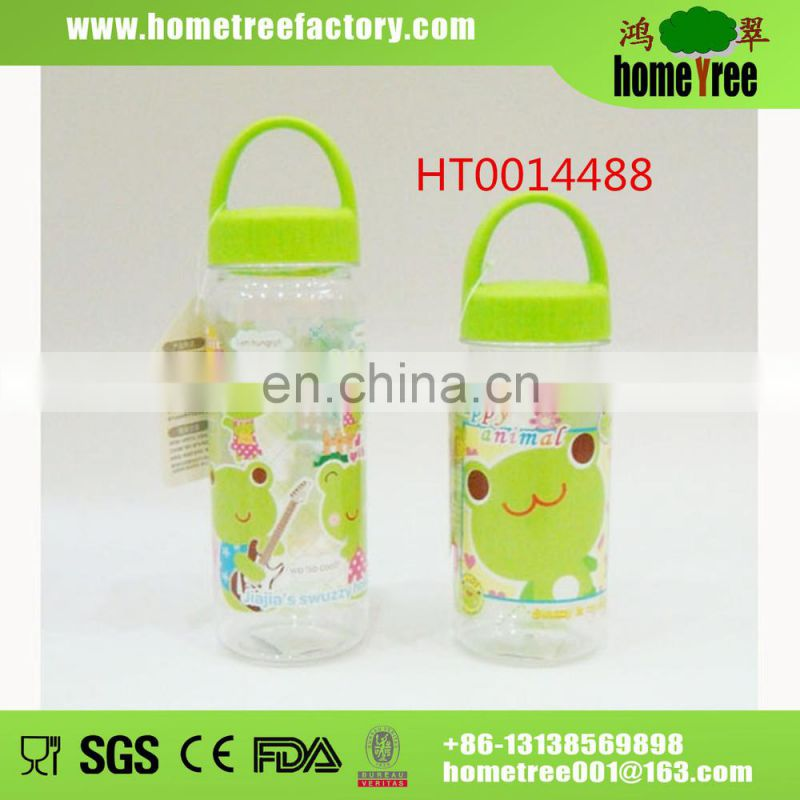 Safety Baby 400ML Clear Plastic Drinking Water Bottle Wholesale With Handle shaker Water Drinking Bottle