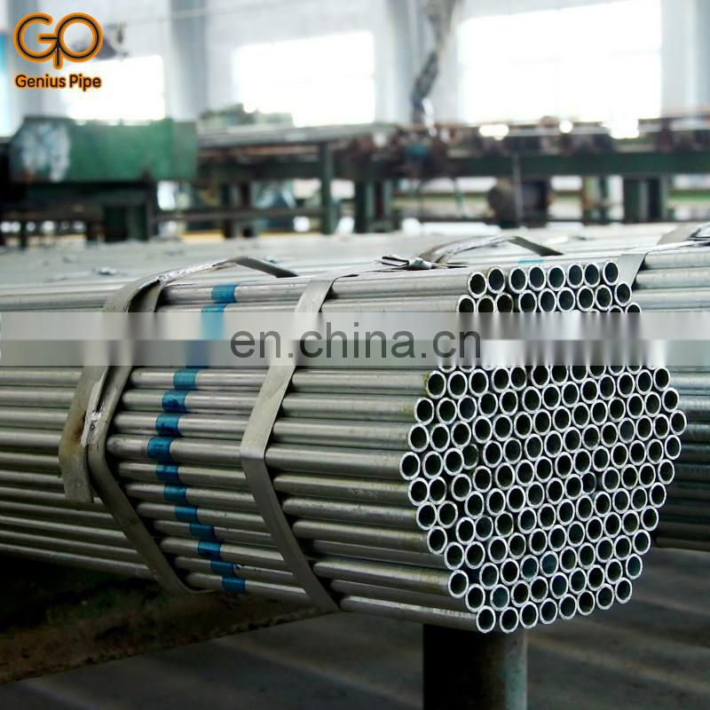 Round diameter 30cm Section Shape and bare 3pe painted Surface Treatment green tube galvanized steel pipe