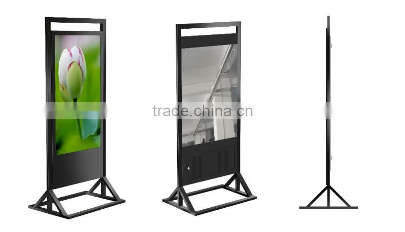 "55"" Floor Stand Networking Ad Player Indoor Digital Signage Advertising Screen Touch Screen Pop Display Mirror Internet Kiosk"