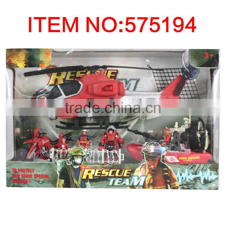 Promotional kids playing fire fighting toys set