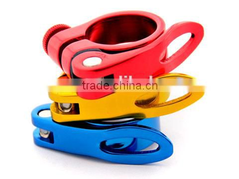 31.8mm CNC Colorful Aluminum Alloy quick release Bicycle Seat Post Clamp