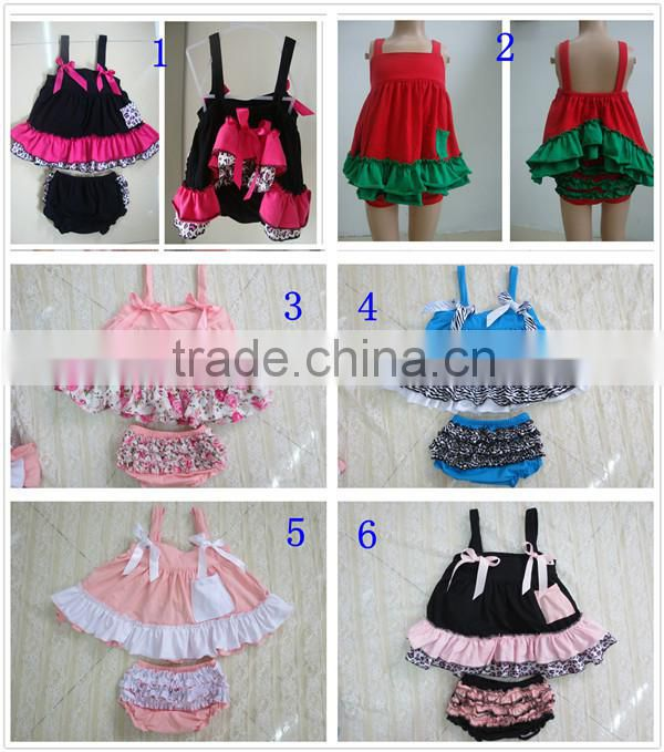 Infant Toddler Girl Ruffle Swing Top And Bloomer Set Swing Back Baby Outfits Wholesale Baby Swing Baby Clothing Set Girl Outfits