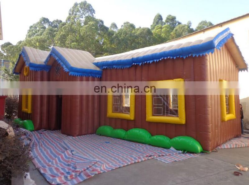 New design customized inflatable house/woden cabin tent