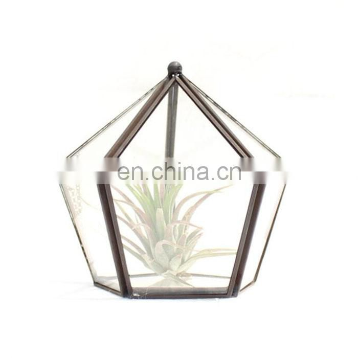 terrarium glass geometric terrarium indoor plants house decoration