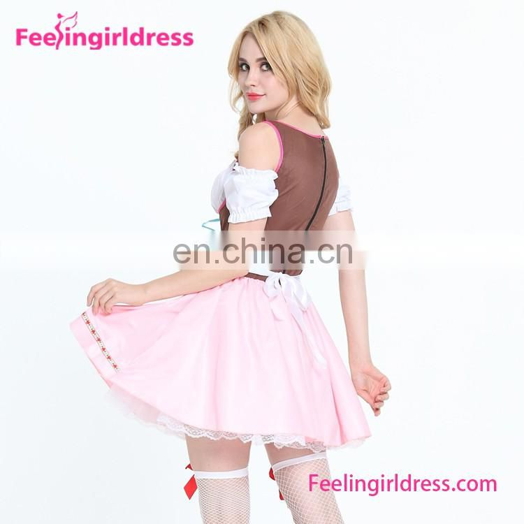Drop Ship Lace Up Oktoberfest Classic French Maid Costume for sale