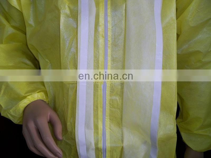 disposable PP PE coverall with hood