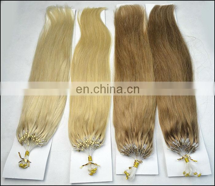 micro ring weft hair offer many colors for customers' choices