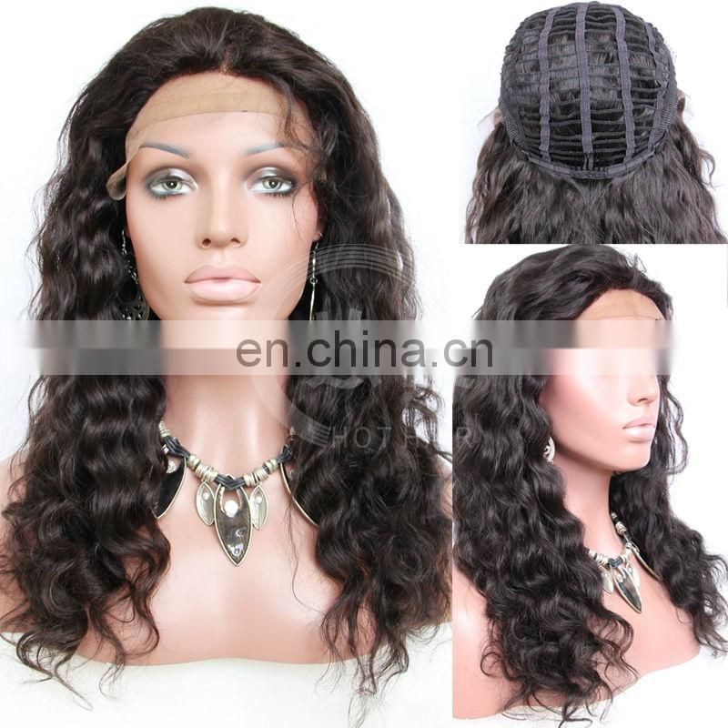 Handmade Virgin Malaysian human human hair lace front wigs with bangs with baby hair