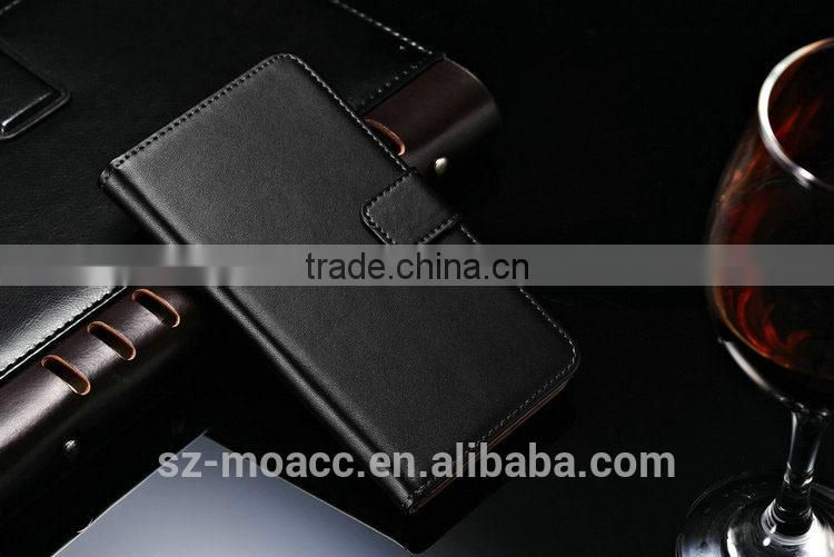 leather mobile phone case for lenovo a850 with card slots