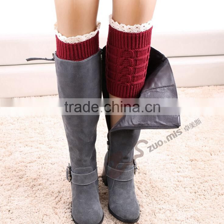 Womens lace Knit Boot Cuffs Lace Boot Cuffs Womens Boot Socks - Knitted Leg Warmers Lace Boot Topper - Knit Boot Topper
