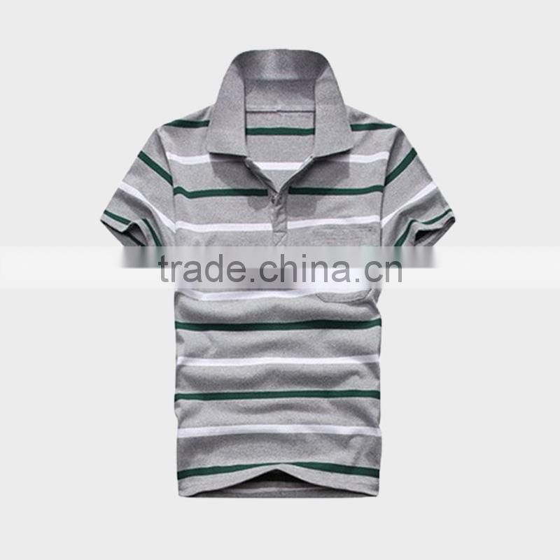 2015 Men's Bulk Polo Shirt With Block Stripe