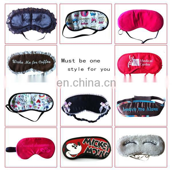 Special Best Sell Embridery Logo Eye Mask