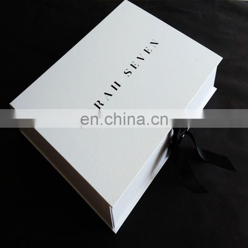 US$500 cash coupon luxury germany customized folding white wedding dress box