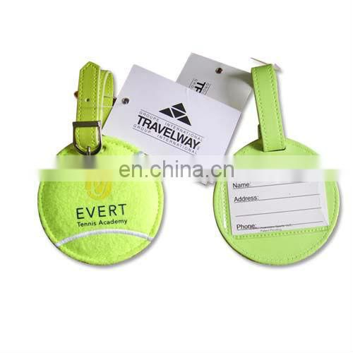 white PU leather luggage tag for promotion business gift