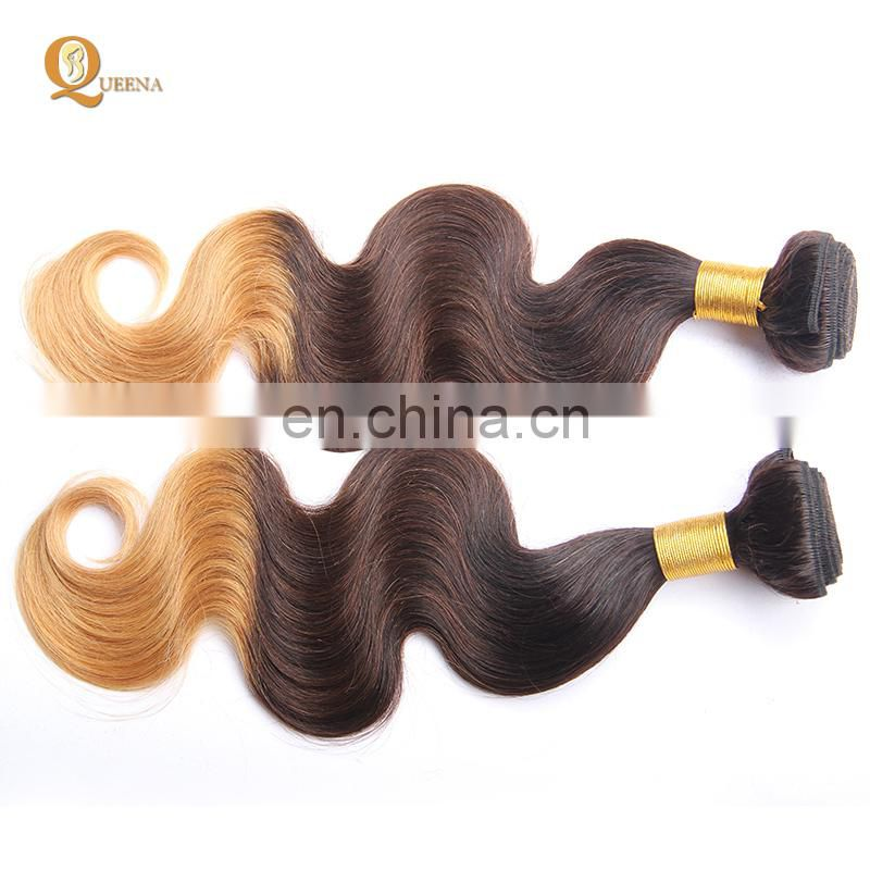 3 Tones Color Ombre Hair Extensions Human Hair ombre Bundles Hair Weaves