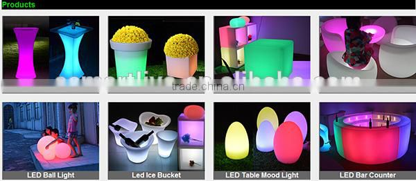 plastic pressureproof light up pe plastic chairs/led chair/light cube seat