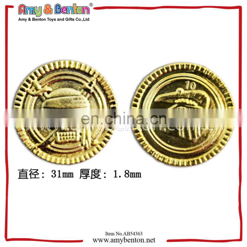 Wholesale Plastic Pirate Gold Coin Toy