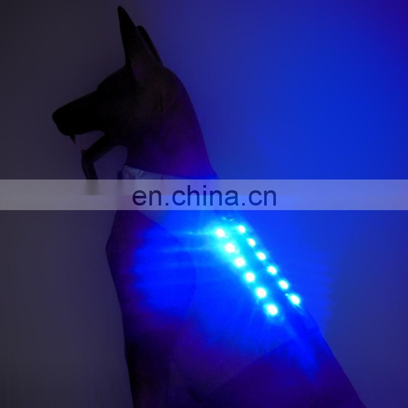 Best quality Android usb led rechargeable dog clothes Safety Protective pet Clothes luminous pet clothes