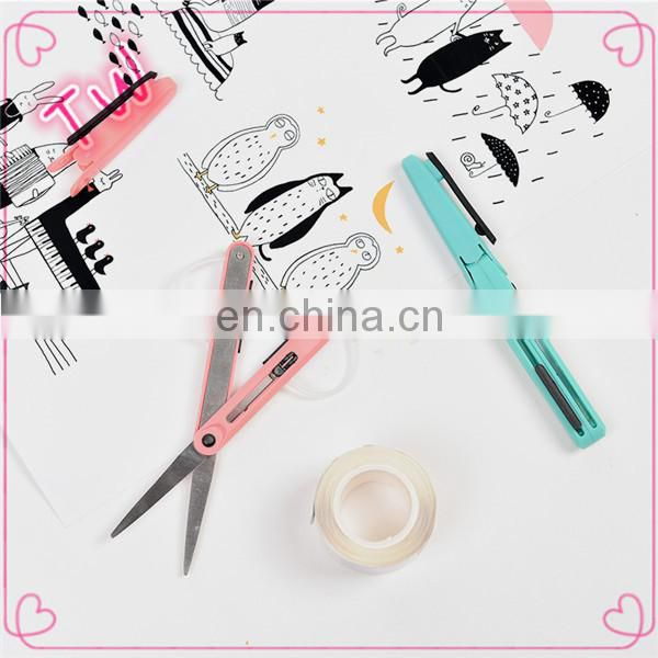 Factory price Wholesale New Design Multifunction different types of Plastic Handle mini stainless steel scissors