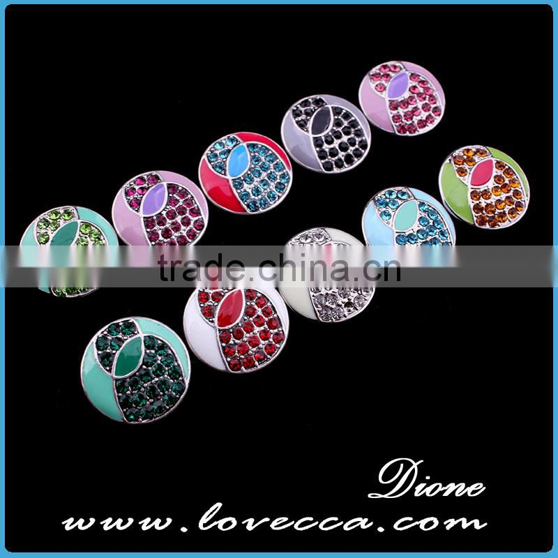Colorful 18mm metal snap buttons DIY jewelry for rings ,bracelet and necklace