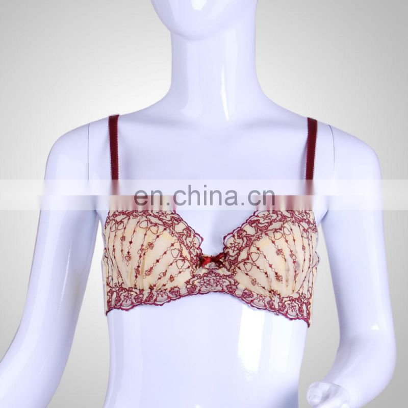 2015 Pretty Lace Shell Shape Fill up Padded Bra