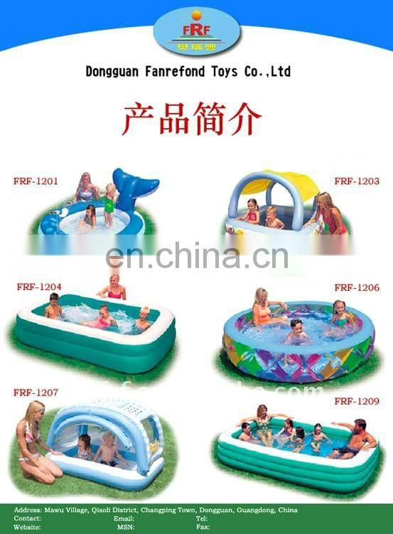 Inflatable tangible swimming pool