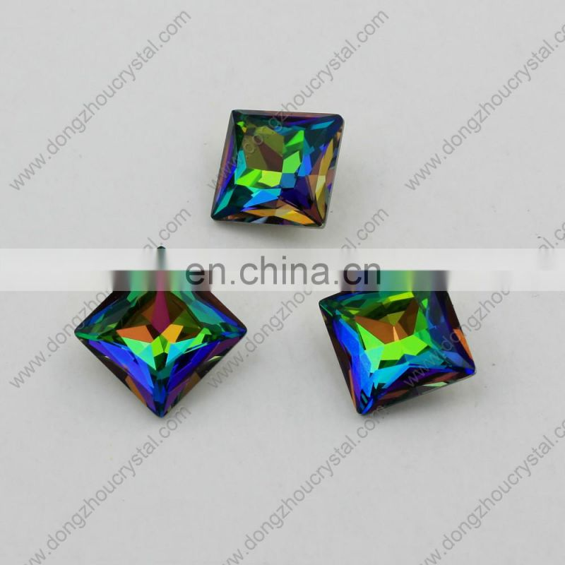 Crystal fancy stones 12mm square shape stones