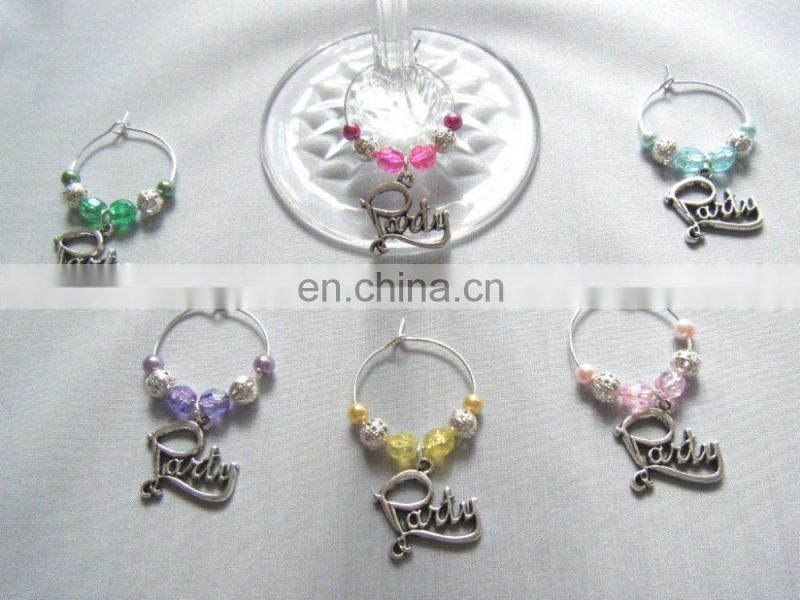 PARTY wine glass charms For dinner party gift idea