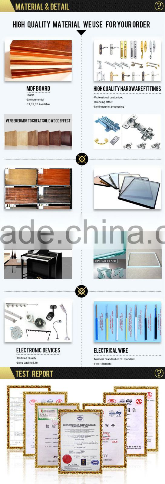 Cheap New Products Custom OEM Modern High Quality Retail Advertising Cosmetic Display Cabinets