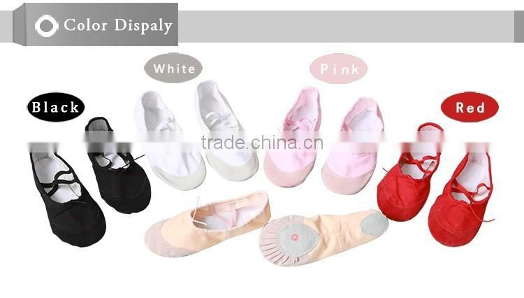 Wholesale 5 Colors Belly Dance Shoes Training Children Ballet foldable Soft Sole Breathable Cotton Ballet Flats Women